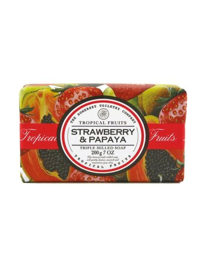 Tropical Fruits Triple Milled Soap - Strawberry & Papaya