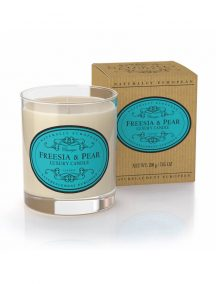 Naturally European Scented Candle Freesia and Pear