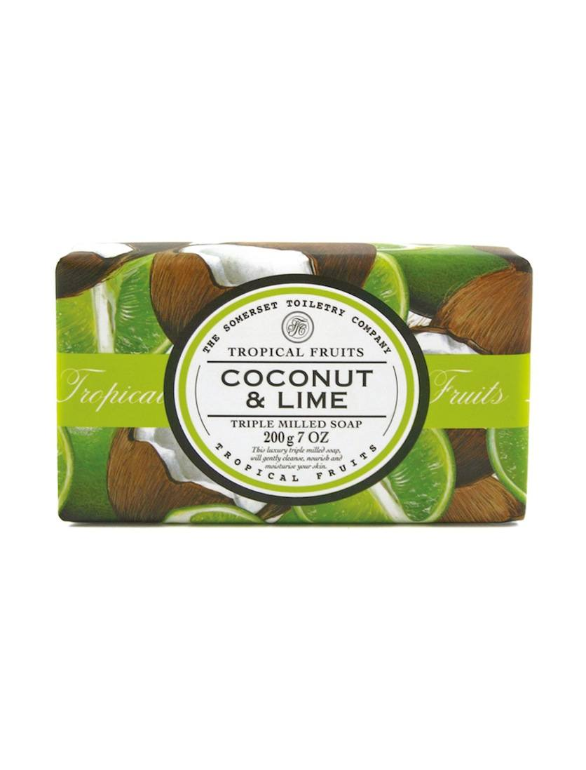 An image of Tropical Fruits Triple Milled Soap Bar - 200g (Fragrance: Coconut & Lime)