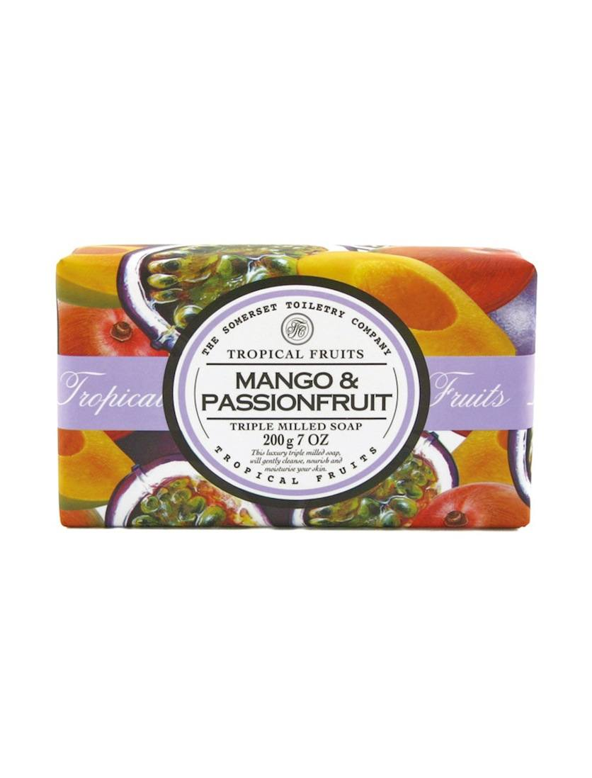 An image of Tropical Fruits Triple Milled Soap Bar - 200g (Fragrance: Mango & Passion Fruit)