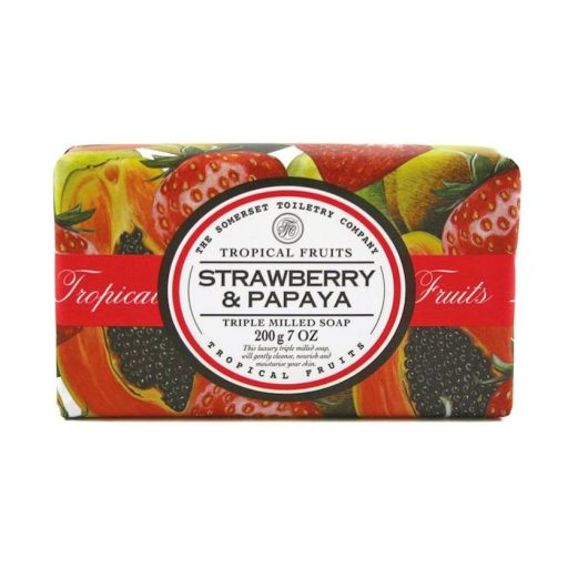 Tropical Fruits Triple Milled Soap - Strawberry & Papaya