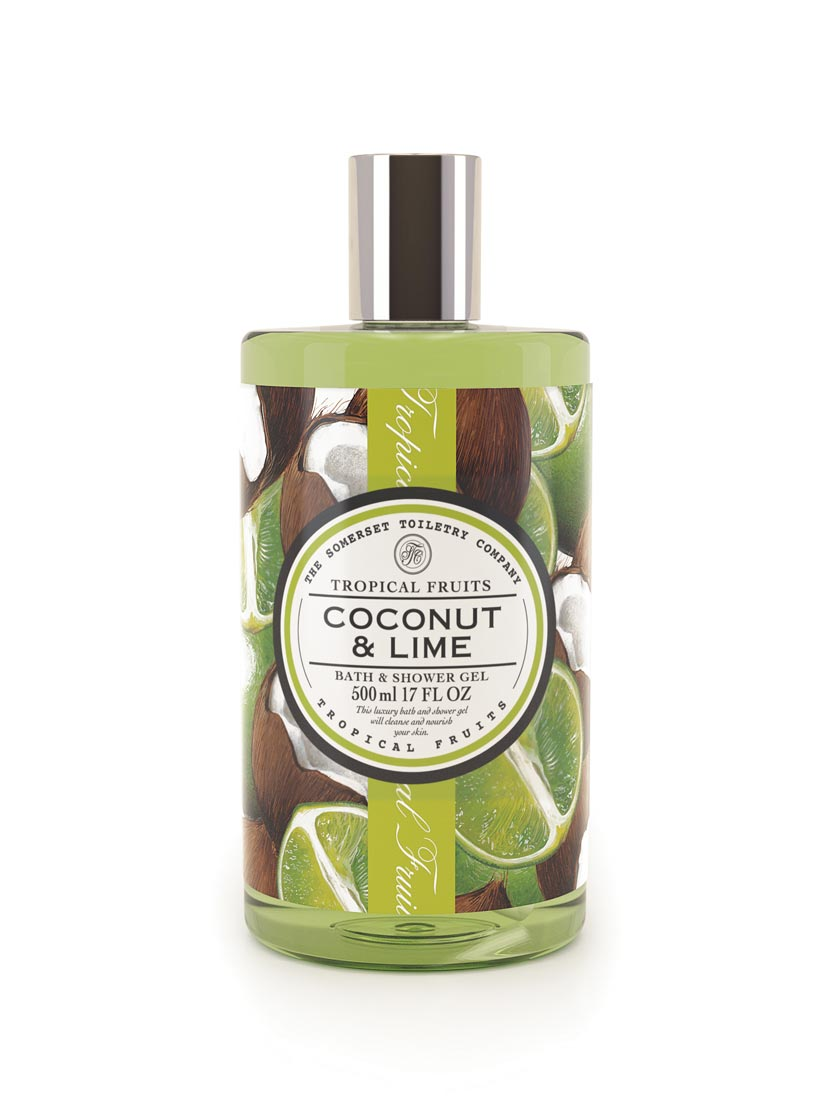 An image of Tropical Fruits Bath & Shower Gel - 500ml (Fragrance: Coconut & Lime)