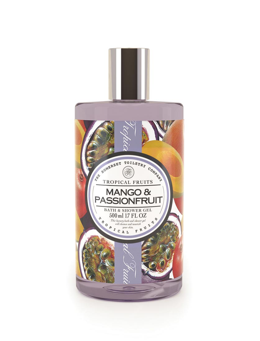 An image of Tropical Fruits Bath & Shower Gel - 500ml (Fragrance: Mango & Passion Fruit)