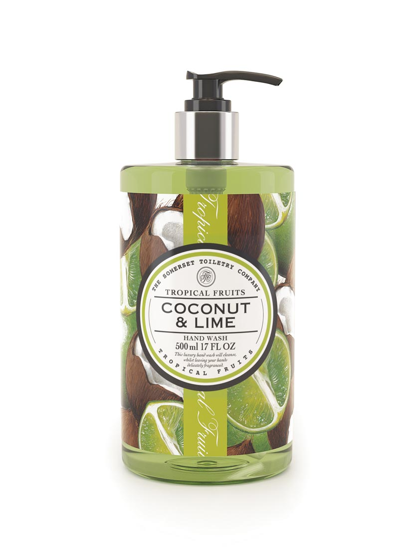 An image of Tropical Fruits Hand Wash - 500ml (Fragrance: Coconut & Lime)