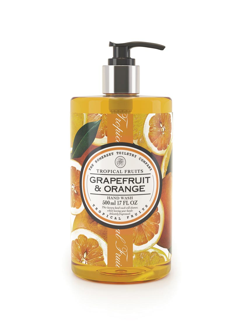 An image of Tropical Fruits Hand Wash - 500ml (Fragrance: Grapefruit & Orange)