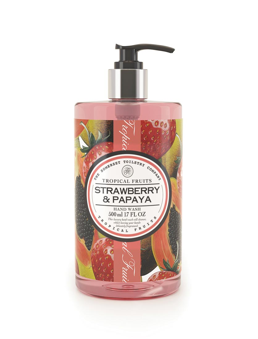An image of Tropical Fruits Hand Wash - 500ml (Fragrance: Strawberry & Papaya)