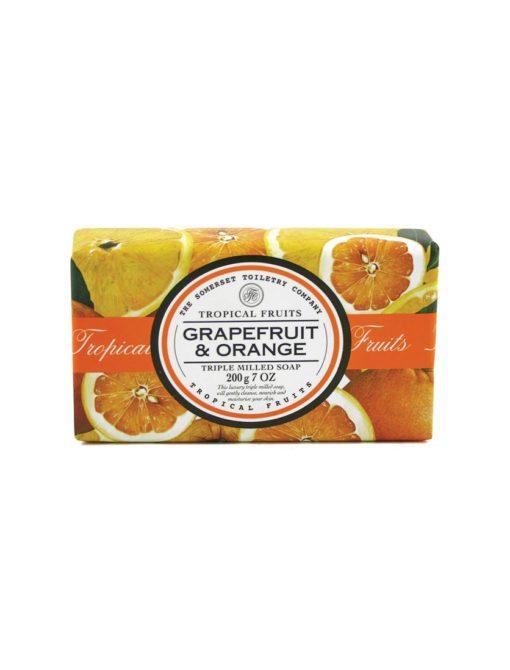 Tropical Fruits Soap Triple Milled - Grapefruit & Orange