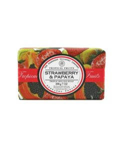 Tropical Fruits Soap Triple Milled - Strawberry & Papaya