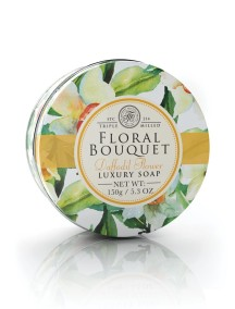 Floral Bouquet Triple Milled Soaps In Tins - Daffodil Flower