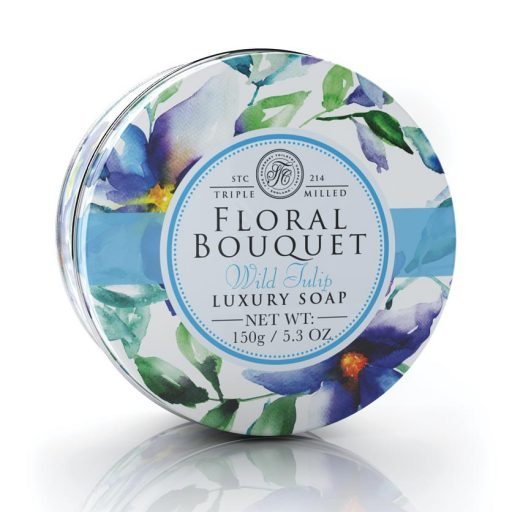 Floral Bouquet Triple Milled Soaps In Tins - Wild Tulip