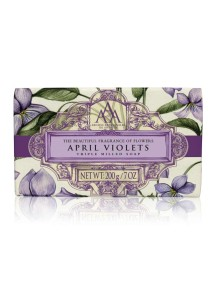 Aromas Artesanales De Antigua AAA Floral Soap Bar - Triple Milled - April Violets