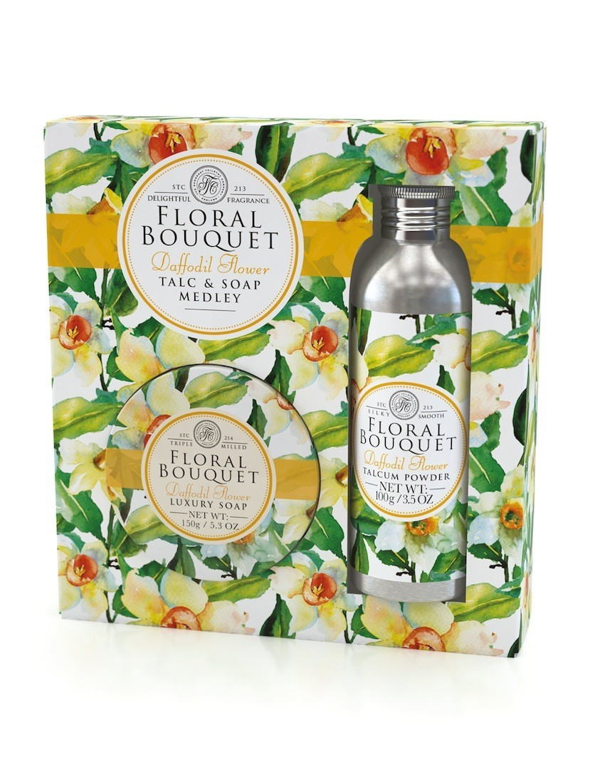 Floral Bouquet Talc & Soap Medley - Daffodil Flower - Gift Set