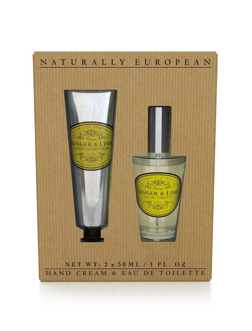Naturally European Hand Cream and Perfume Collection Ginger and Lime