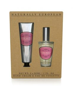 Naturally European Hand Cream and perfume Collection Rose Petal