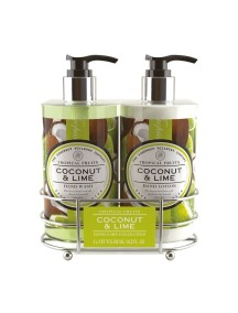 Tropical Fruits Hand Care Caddy - Coconut & Lime - Hand Wash - Hand Lotion