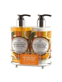 Tropical Fruits Hand Care Caddy - Grapefruit & Orange - Hand Wash - Hand Lotion