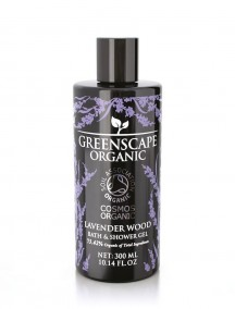 Greenscape Organic Shower Gel - Lavender Wood - Soil Association - Cosmos Organic