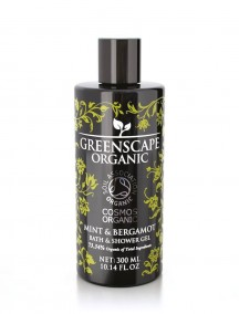 Greenscape Organic Shower Gel - Mint and Bergamot - Soil Association - Cosmos Organic