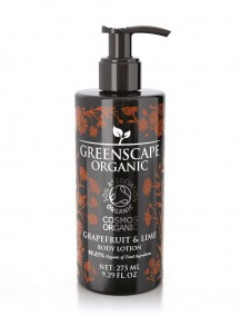 Greenscape Organic Body Lotion - Grapefruit and Lime - Soil Association - Cosmos Organic