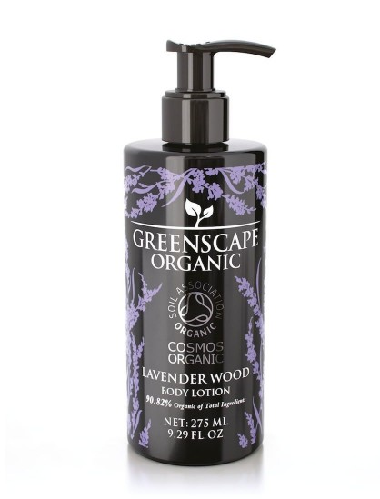 Greenscape Organic Body Lotion - Lavender Wood - Soil Association - Cosmos Organic