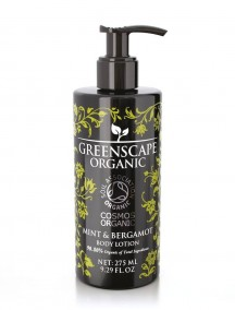 Greenscape Organic Body Lotion - Mint and Bergamot - Soil Association - Cosmos Organic