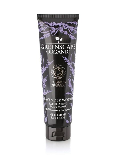 Greenscape Organic Exfoliating Body Scrub - Lavender Wood - Soil Association - Cosmos Organic