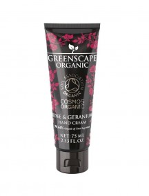 Greenscape Organic Hand Cream - Rose and Geranium - Soil Association - Cosmos Organic