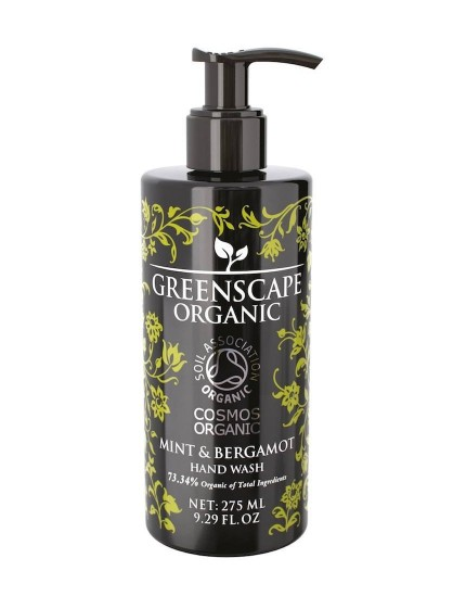 Greenscape Organic Hand Wash - Mint and Bergamot - Soil Association - Cosmos Organic