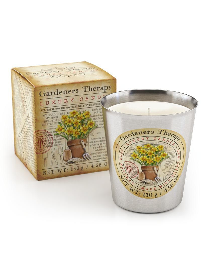 Luxury scented candle gardeners therapy spearmint rosemary for Best scented candle brands