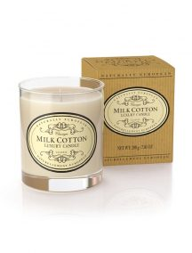 Naturally European Luxury Scented Candle Milk Cotton
