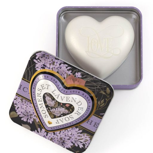 Heart Soap In Tin Somerset Lavender