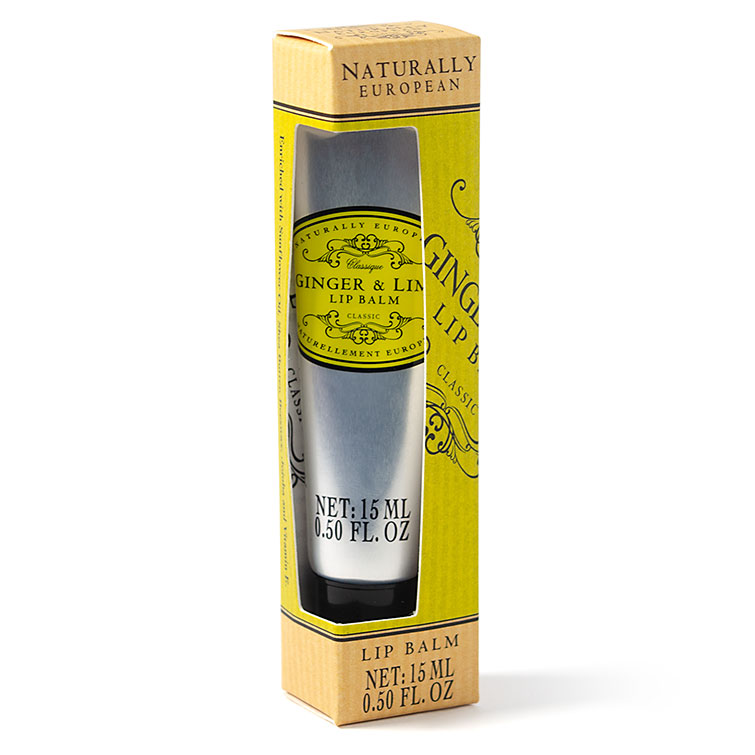Naturally European Lip Balm Ginger and Lime