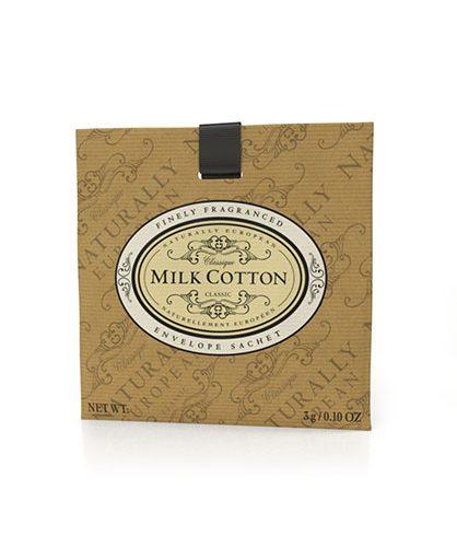 Naturally European Fragranced Envelope Sachet Milk Cotton
