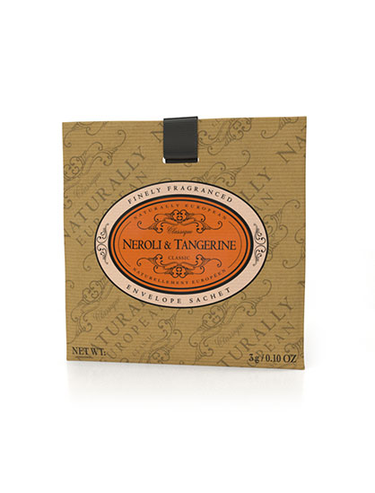 Naturally European Fragranced Envelope Sachet Neroli & Tangerine