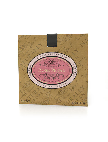 Naturally European Fragranced Envelope Sachet Rose Petal