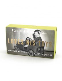 Loves his toys soap
