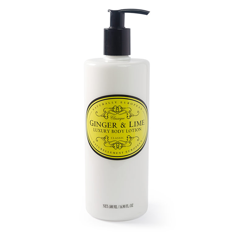 naturally european body lotion ginger and lime