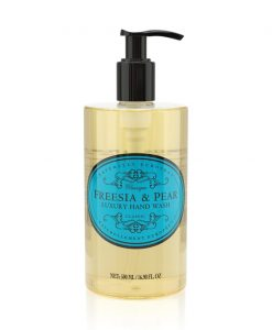 naturally european hand wash freesia and pear