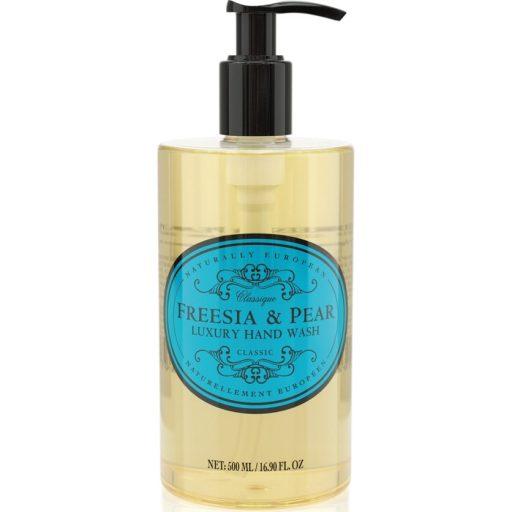 naturally european hand wash freesia and pear