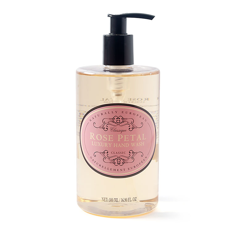 naturally european hand wash rose petal