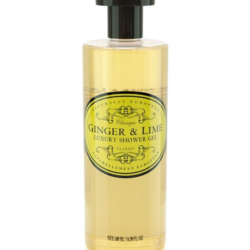 naturally european shower gel ginger and lime
