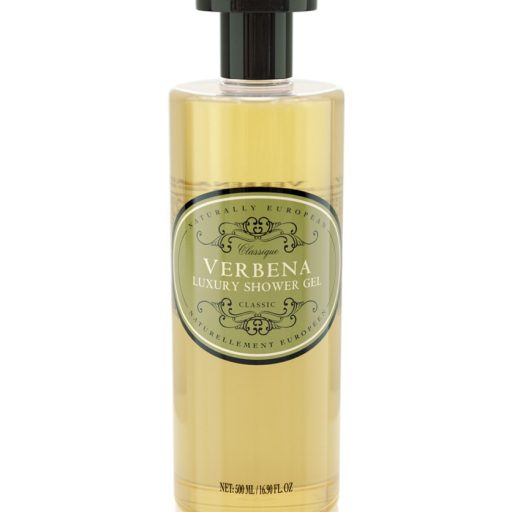 naturally european vegan shower gel verbena