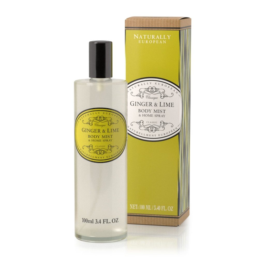 Ginger and Lime Naturally European Body Mist and Home Spray