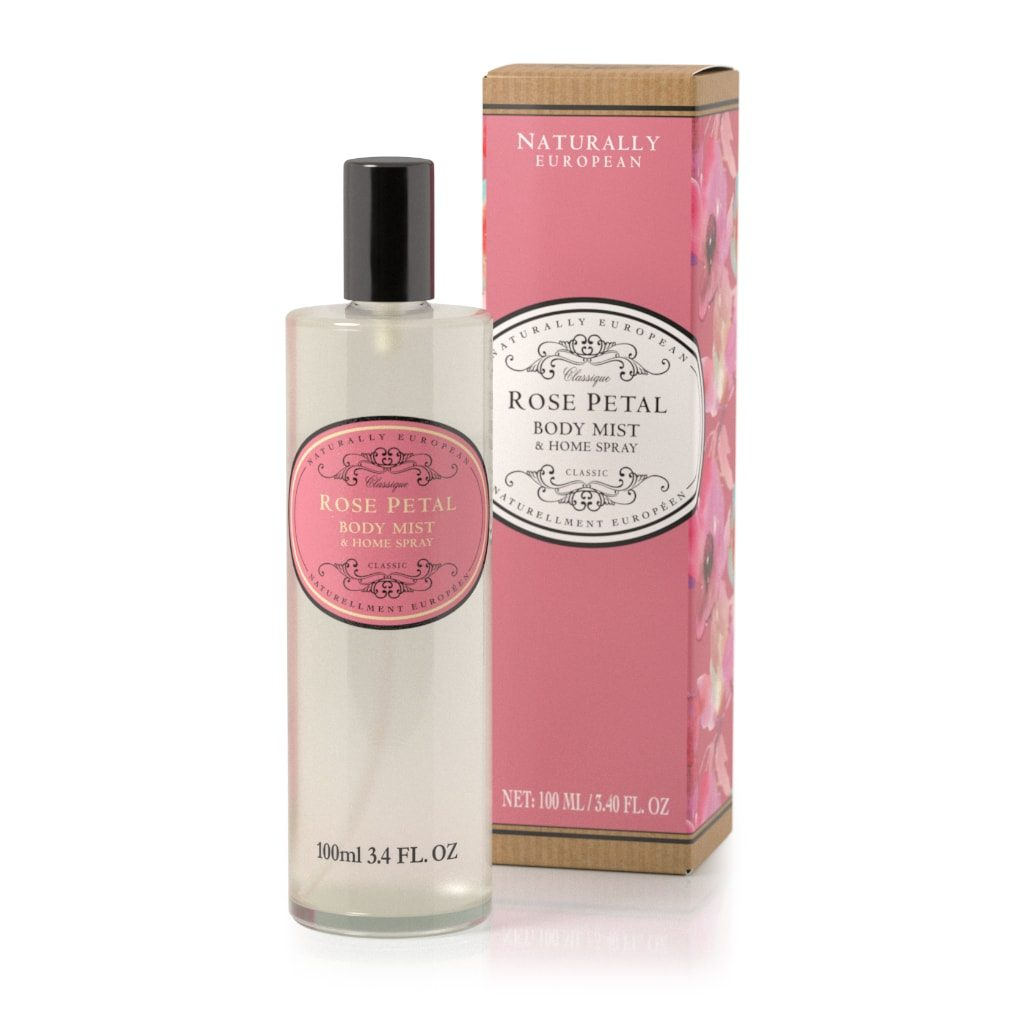 Rose Petal Naturally European Body Mist and Home Spray