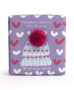 somerset-toiletry-company-bobble-hat-soap-plum-flower christmas