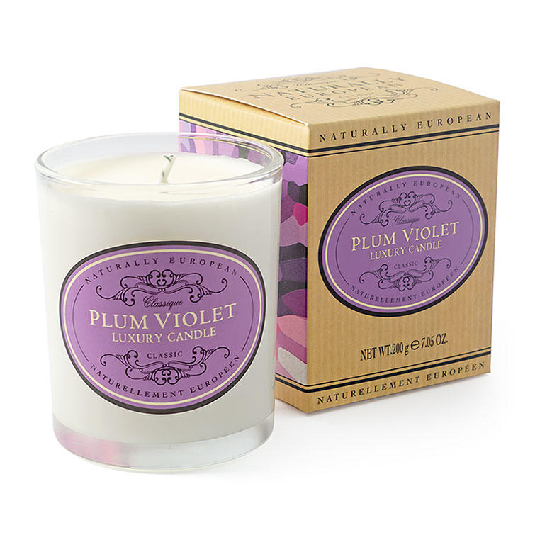 Naturally European Candle - Plum Violet