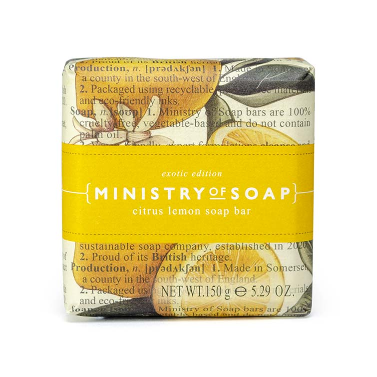 Ministry-Of-Soap-Fruit Type - Citrus-Lemon-Soap-Bar