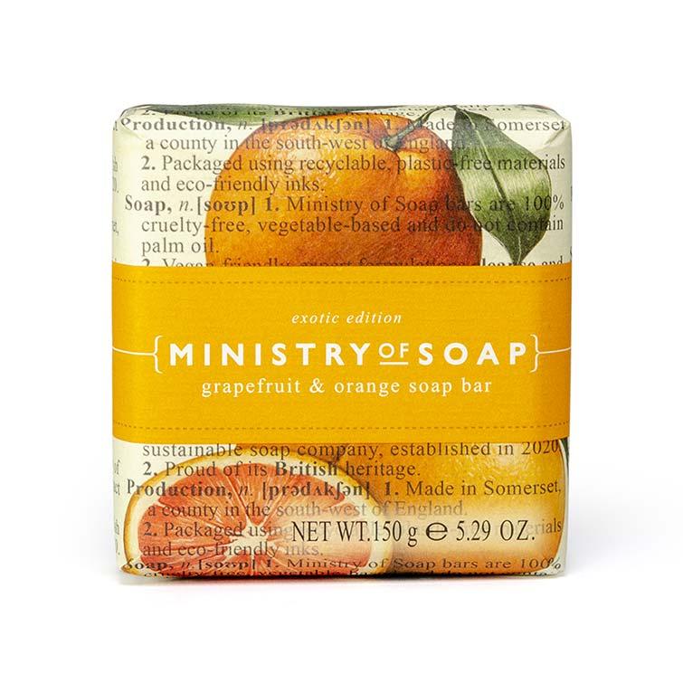 Ministry-Of-Soap-Fruit Type - Grapefruit-Orange-Soap-Bar