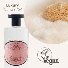 Naturally European 500ml Shower Gel - Texture - Rose Petal