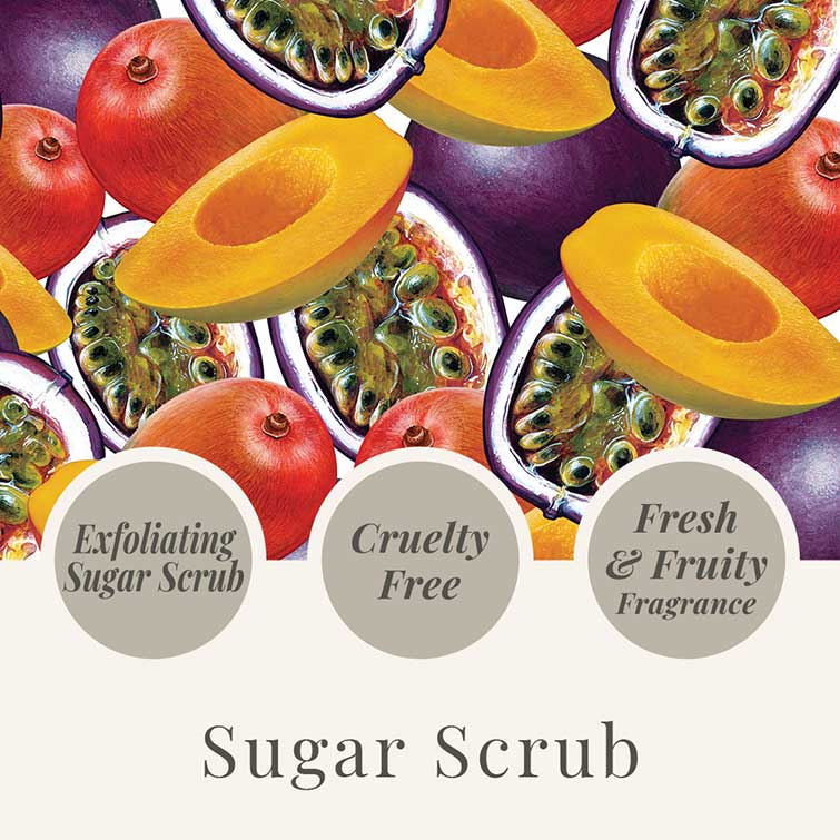 Tropical Fruits 550g Sugar Scrub - USP - Mango & Passionfruit